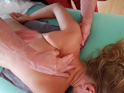 Anleitung Schultermassage